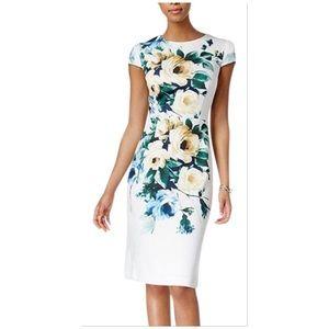 Betsey Johnson • floral front scuba dress